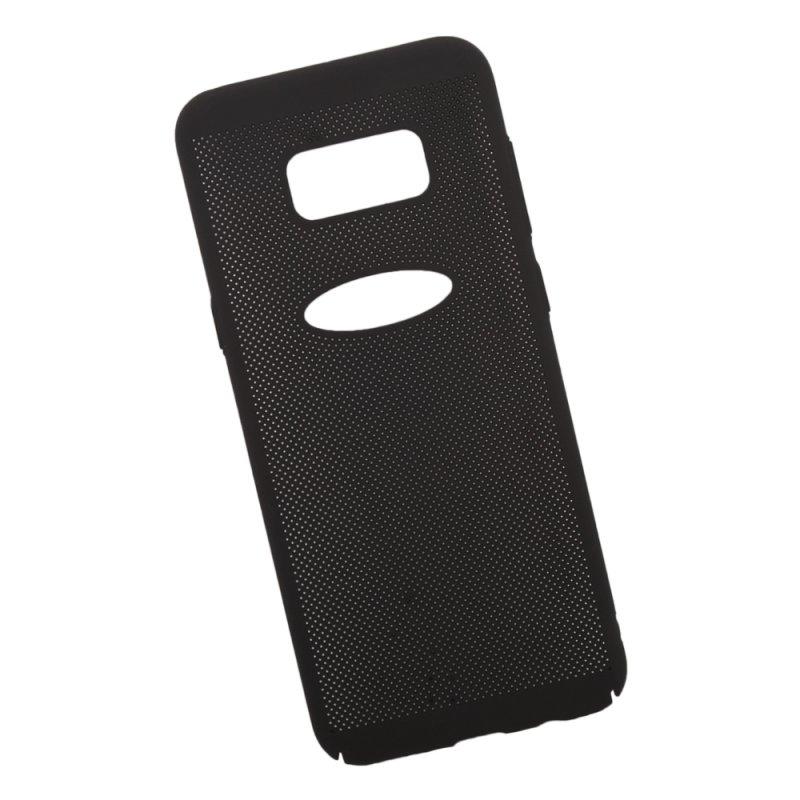 """Защитная крышка для Samsung S8 Plus""""LP» Сетка Soft Touch (черная) европакет"""