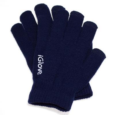 Купить со скидкой Перчатки iGlove для работы с емкостными экранами (цвет темно синий)