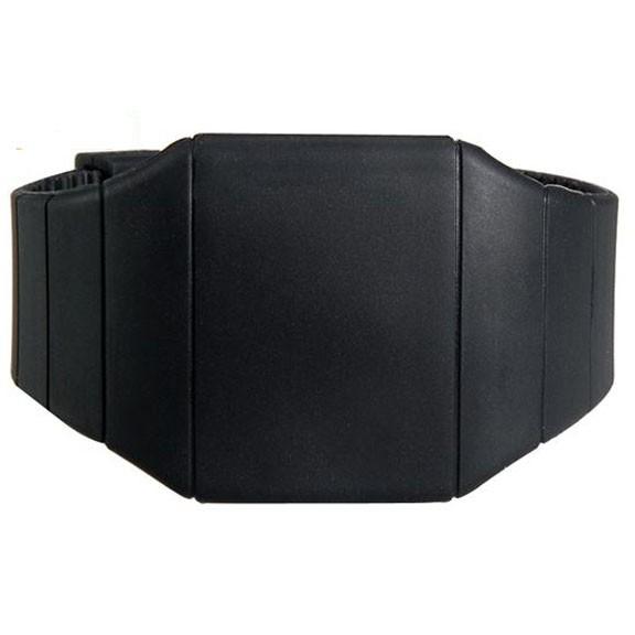 Ультратонкие силиконовые LED часы Nexer G1206, черные