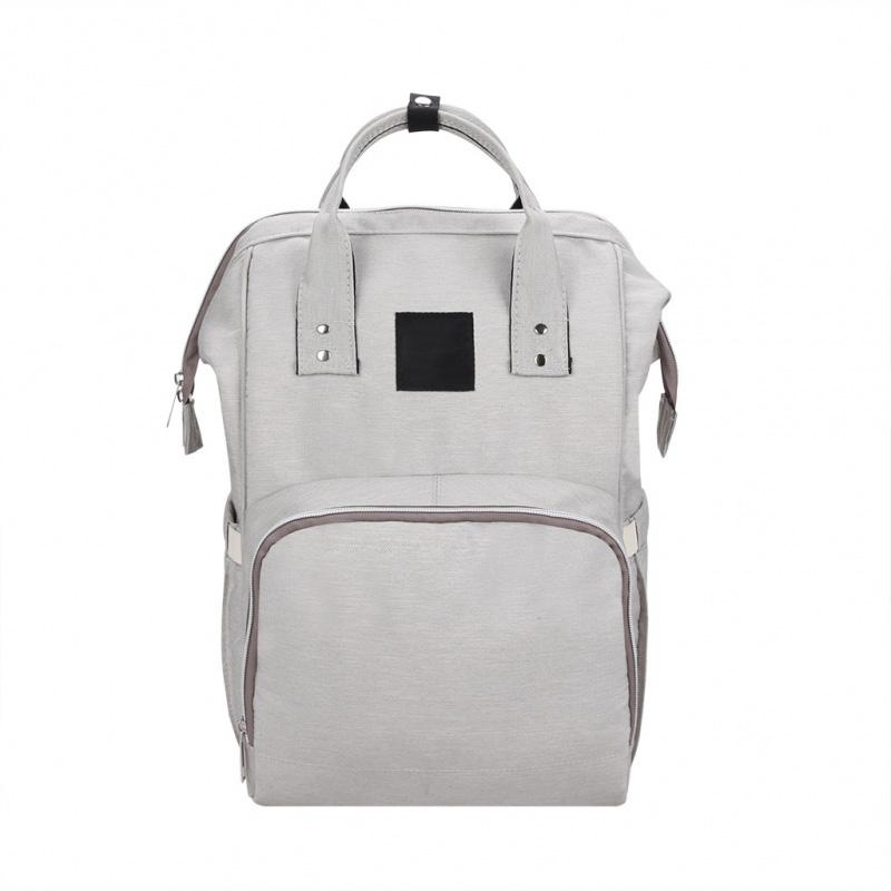 Сумка-рюкзак для мамы Baby Mo с USB, цвет в ассортименте, зелёный