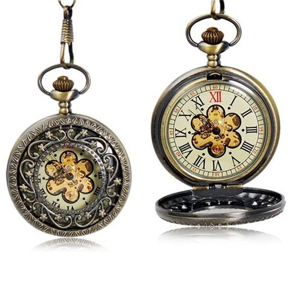 Карманные часы с крышкой ЦветокКарманные часы<br>Если вы любите украшения в стиле винтаж, то просто обязаны познакомиться лично с карманными часами с крышкой «Цветок». Этот аксессуар разбавит ваш образ особым чувством стиля и вкуса, а также придаст грациозности!<br>
