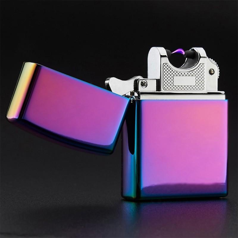 USB зажигалка электроимпульсная - цветной глянецUSB зажигалки<br>Безопасная USB зажигалка электроимпульсная нового поколения в фантастическом цвете – хамелеон! Без газа, без бензина, без огня. Цинковый корпус, глянцевое переливающееся покрытие, оправданная стоимость. Ваш лучший презент по любому случаю для ценителей табачных изделий!<br>