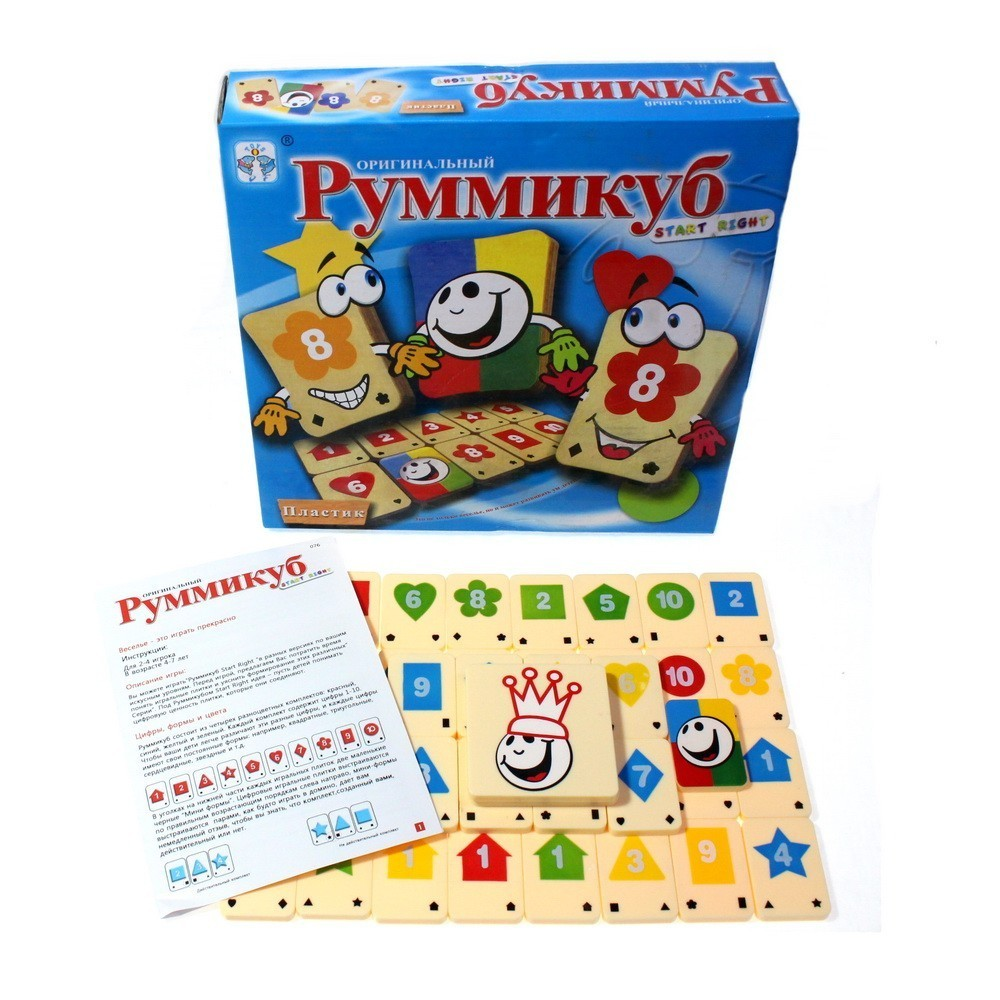 Настольная игра - РуммикубНастольные игры<br>Ищете настольную игру, которая не только понравится всем членам вашей семьи, но и будет развивать ум детей? Обязательно обратите внимание на Руммикуб. Такой интересной игры точно не было в вашей коллекции!<br>
