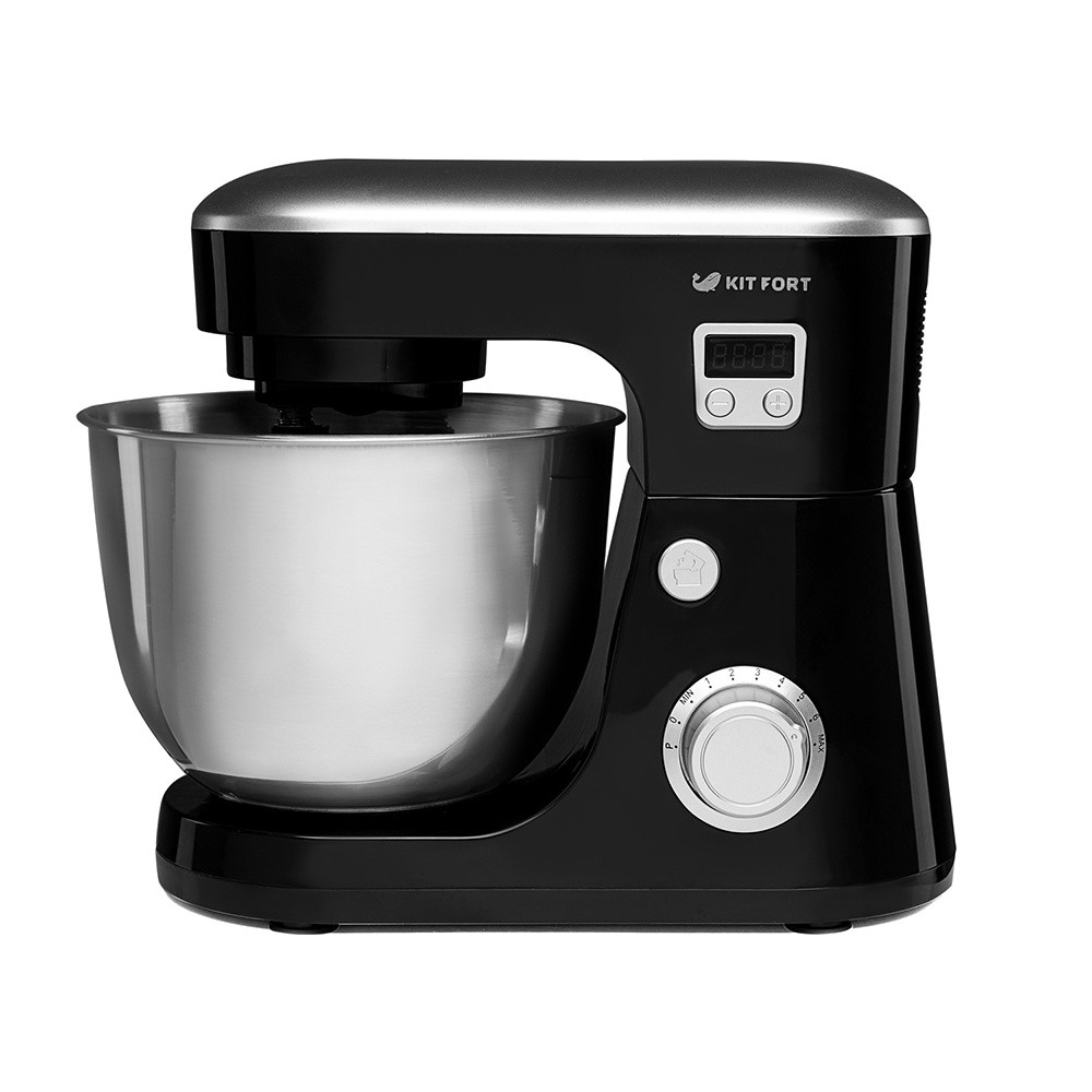 Планетарный миксер Kitfort 1308-КТ, чёрный КТ-1308-3Миксеры<br>Планетарный стационарный миксер Kitfort КТ-1308 поможет вам смешать ингредиенты, взбить яичный белок или сливки, приготовить картофельное пюре, соус, крем, мусс, замесить тесто как жидкое, для блинов, так и густое, для мантов и пельменей, а также многое другое.<br>