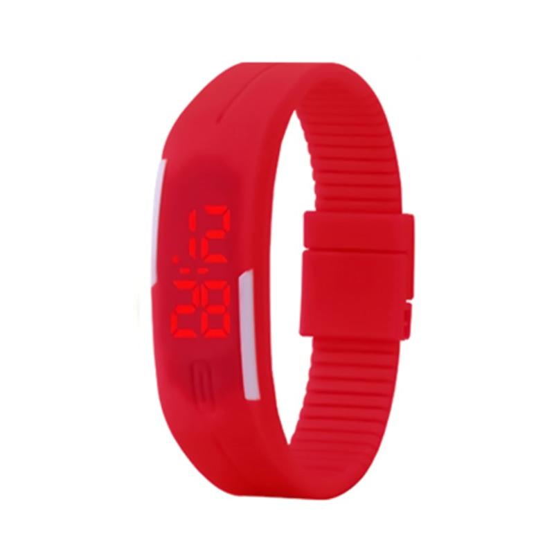 Силиконовые часы Sport, Красный фото