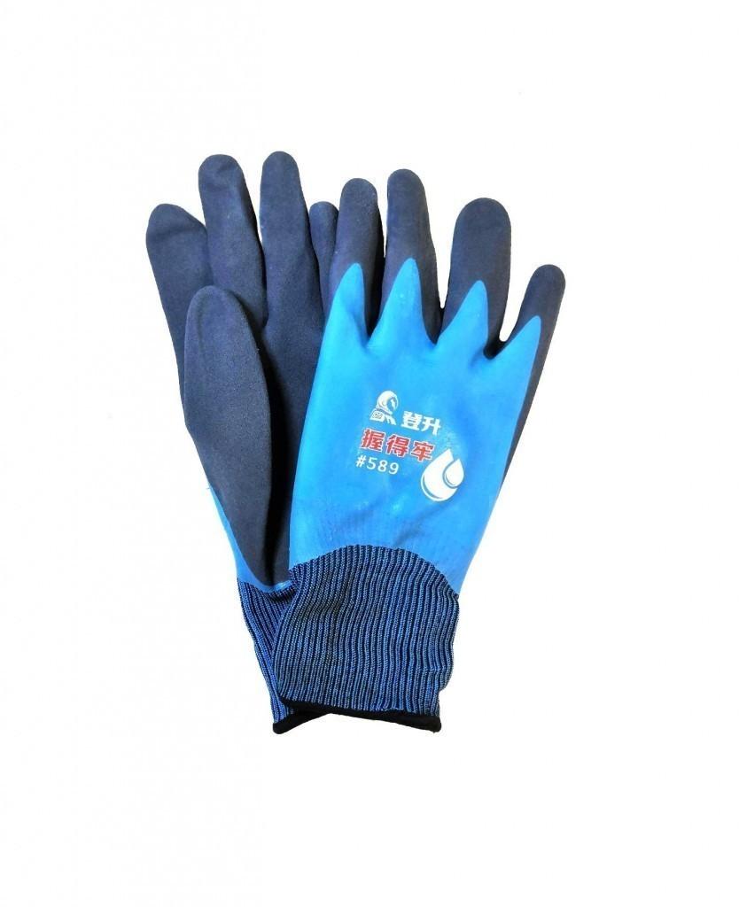 Нейлоновые рабочие перчатки с двойным латексным покрытием
