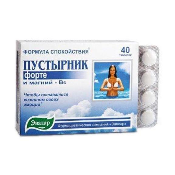 Пустырник Форте Эвалар - контроль эмоций, 40 таблеток