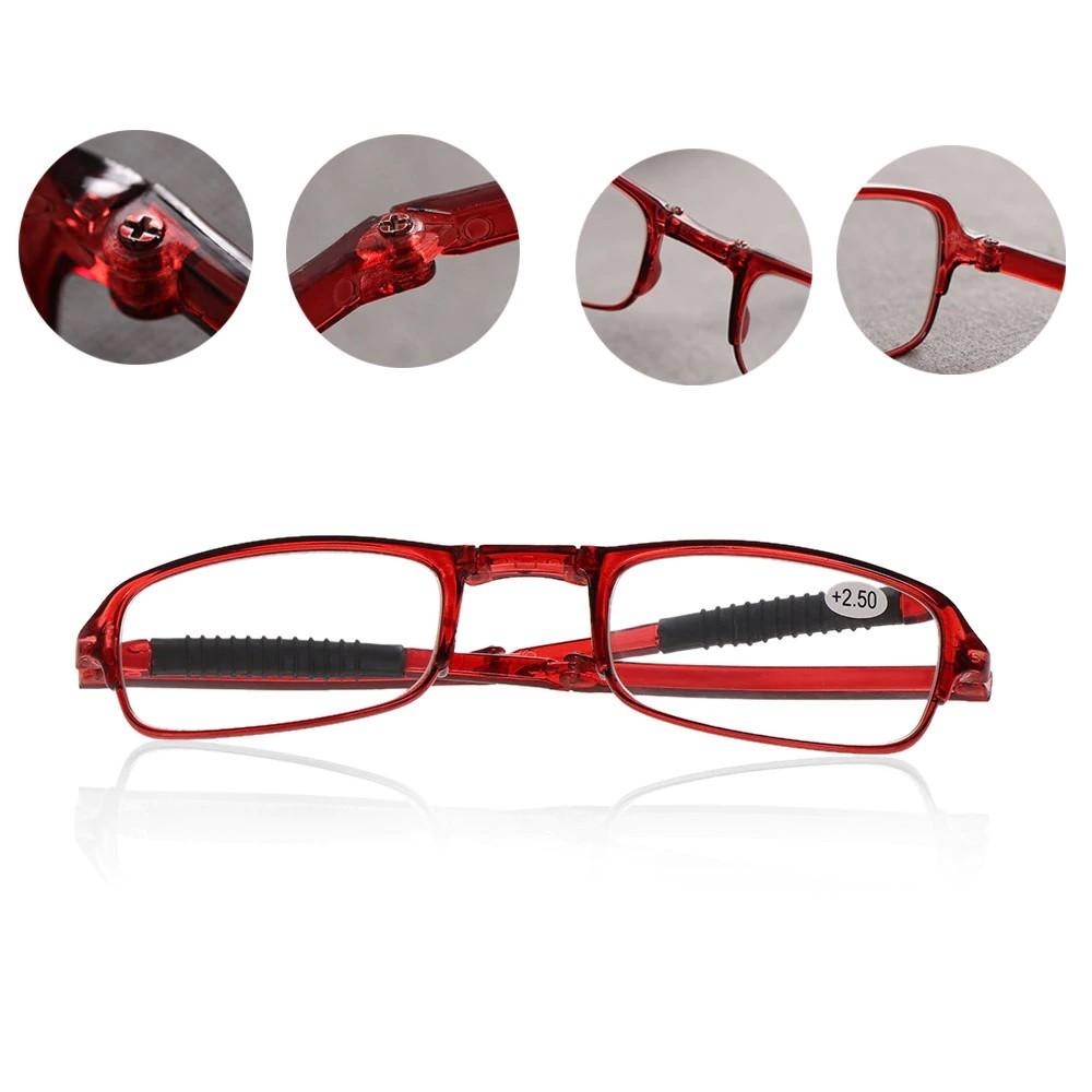Складные очки - Фокус Плюс, 1 шт. в чехле, цвет в ассортименте, Красный