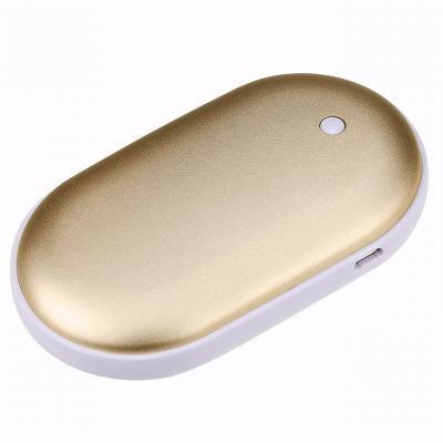 Грелка для рук, золотойГрелки<br>Если в межсезонье вы постоянно мерзнете, то грелка для рук, работающая от порта USB, поможет вам согреться в любых условиях! Температура нагрева инновационного гаджета достигает аж 40 градусов!<br>