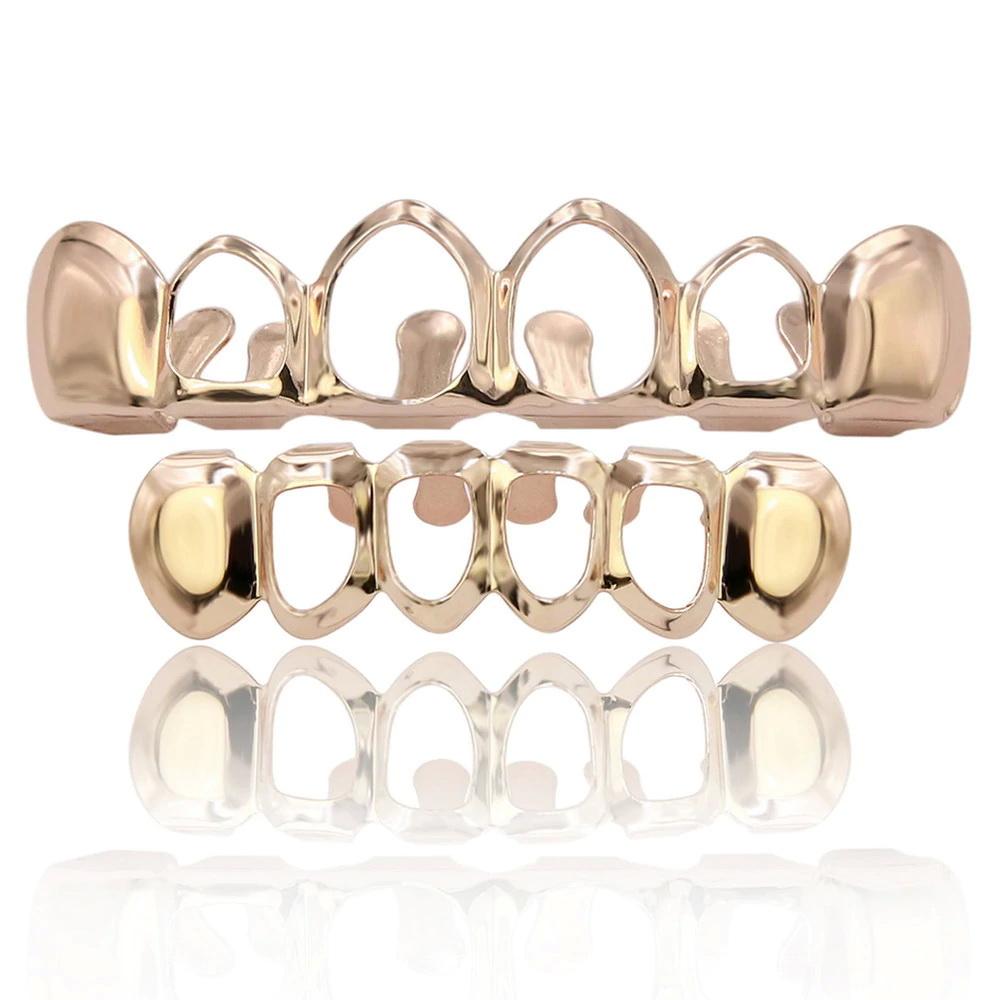 Грилзы, с открытыми зубами классические, бронза