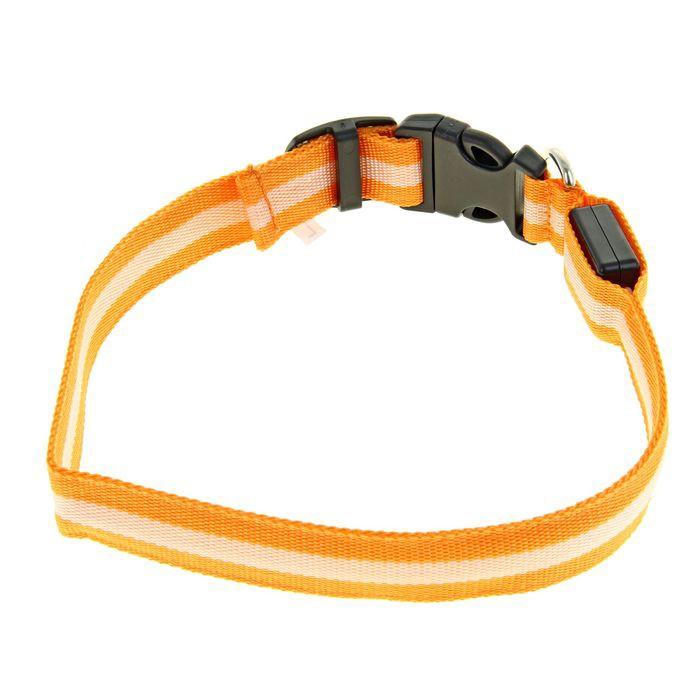 Светящийся ошейник - 45-50 см - оранжевыйСветящиеся ошейники<br>Как не потерять своего четвероногого друга в стае собак? Ответ на этот вопрос знает светящийся ошейник - 45-50 см оранжевого цвета!<br>