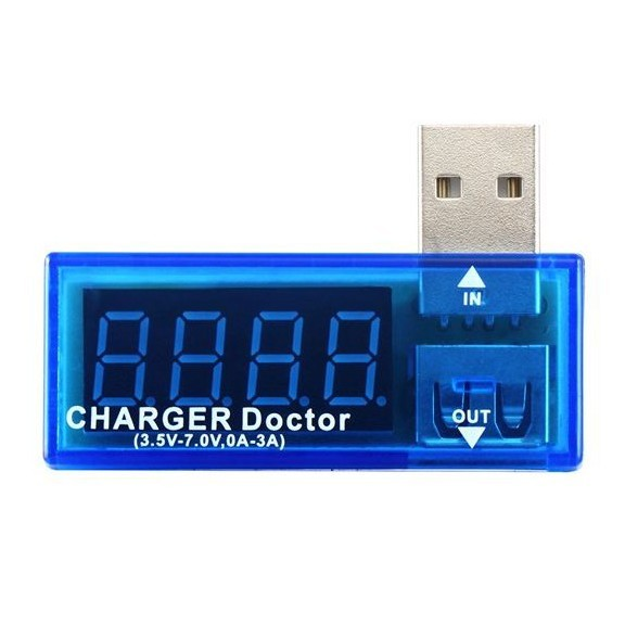 USB тестер - напряжение и сила токаОстальные гаджеты<br>USB тестер используют для измерения напряжения и силы тока в съемных накопителях, на смартфонах, в ноутбуке, на планшете. Устройство показывает входящий ток и снимает показания выходного тока. С его помощью легко оценить состояние батарей, контактов, повербанков и зарядных устройств.<br>
