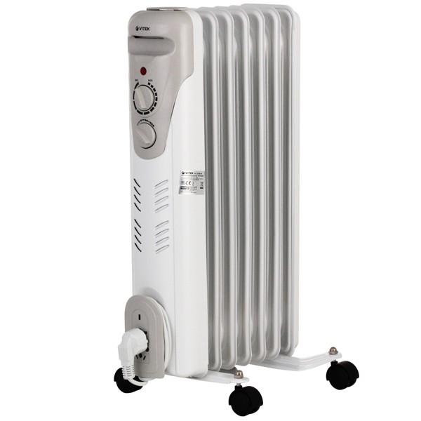 РадиаторVitek на 7 секций VT-1708(W)Радиаторы и обогреватели<br>Когда система центрального отопления не справляется с обогревом помещения, необходимо радиатор от компании Vitek. Надёжное и качественное тепловое оборудование идеально подойдёт для любой комнаты или офиса.<br>