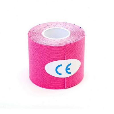 Тейп-лента кинезиологическая, самоклеящаяся, розовая