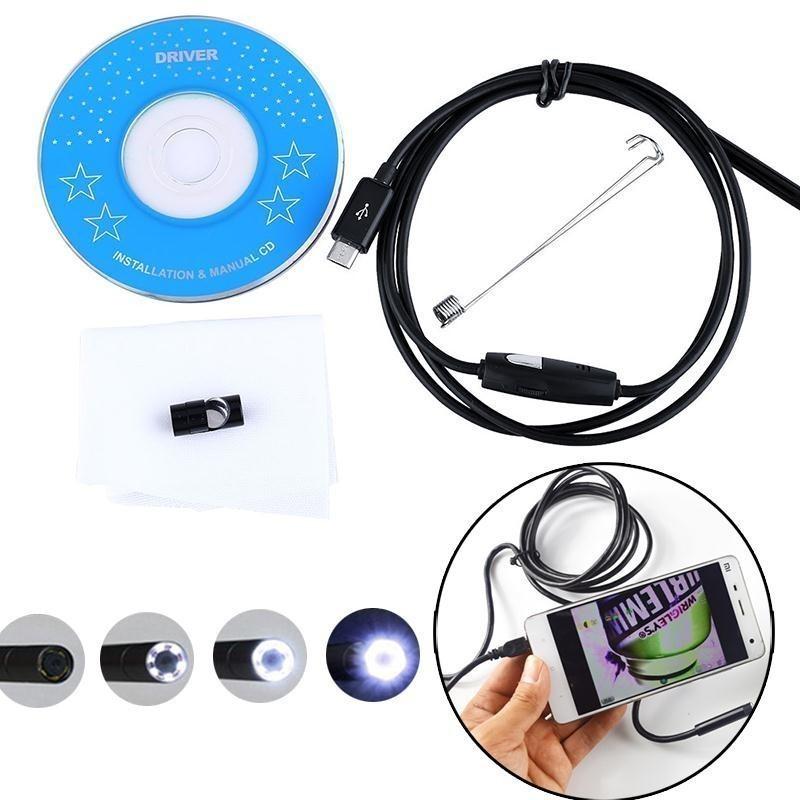 Камера  - гибкий эндоскоп USB (Micro USB), 1м, Android/PCГибкая видеокамера<br>Делаете ремонт и вам необходимо разглядеть внимательно труднодоступный объект? Вам поможет камера  - гибкий эндоскоп USB (Micro USB), 1м, Android/PC. Устройство снимет все необходимое и покажет вам качественное видео на компьютере или любом другом устройстве.<br>