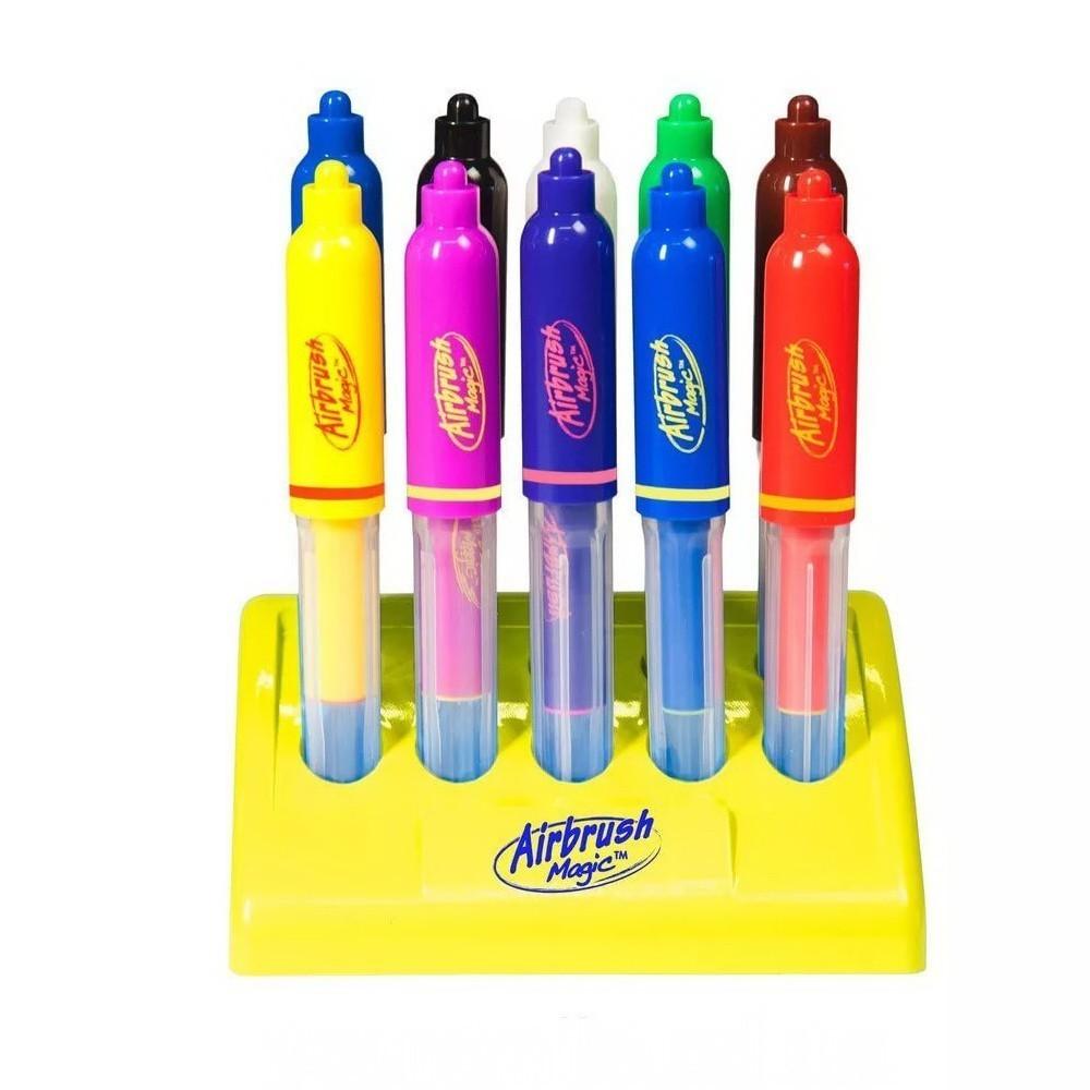 Волшебные фломастеры Airbrush Magic Pens меняющие цветТовары для творчества<br>Ваш ребенок не сильно любит рисование? Все дело в том, что он не видит в этом процессе волшебства. Как изменить такое отношение? Вам понадобятся инновационные фломастеры, меняющие цвет, Airbrush Magic Pens. Цена в интернет магазине Мелеон приятно вас удивит!<br>