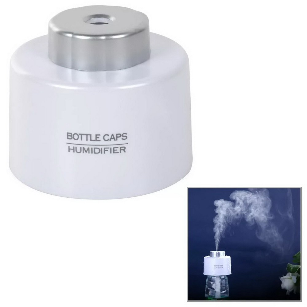 Увлажнитель воздуха на бутылку от USB, белыйУвлажнители воздуха<br>Если каждую зиму вы сталкиваетесь с сухим воздухом в квартире, то просто обязаны купить увлажнитель воздуха на бутылку от USB. Это миниатюрное устройство позволит Вам дышать полной грудью как в офисе или на работе, так и даже в автомобиле!<br>