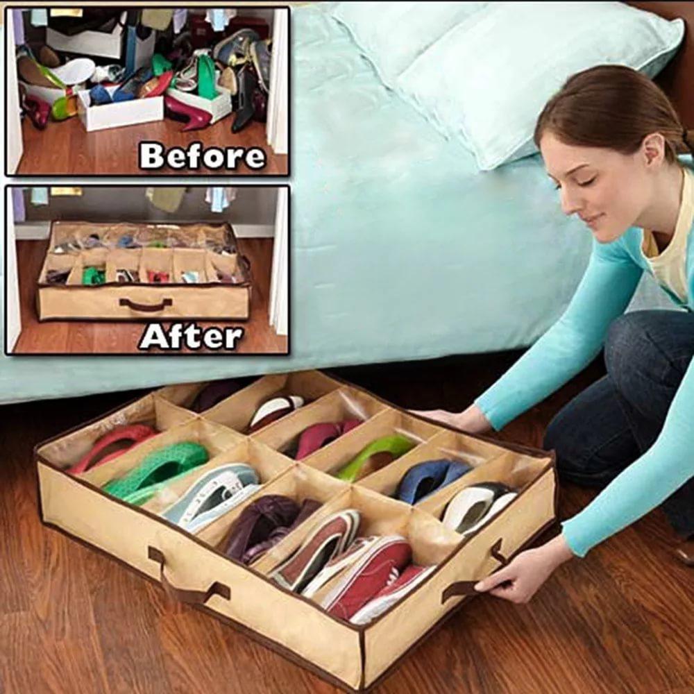 Сумка для хранения обуви на 12 пар от MELEON