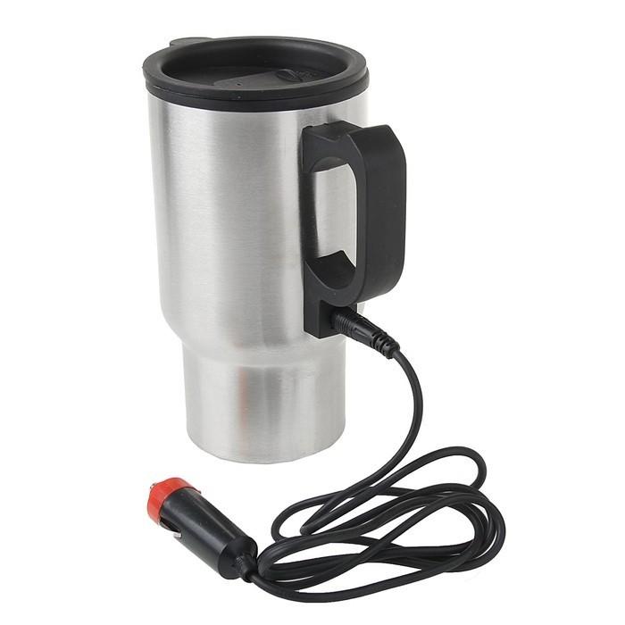 Кружка с подогревом от прикуривателя, 450 млКружки от прикуривателя<br>Если вы много времени проводите за рулем, то знаете, как порой необходима «подзарядка» чашкой горячего чая или кофе. Не знаете, как обеспечить себе эту необходимость? Очень просто! Кружка с подогревом от прикуривателя, 450 мл станет настоящей находкой!<br>