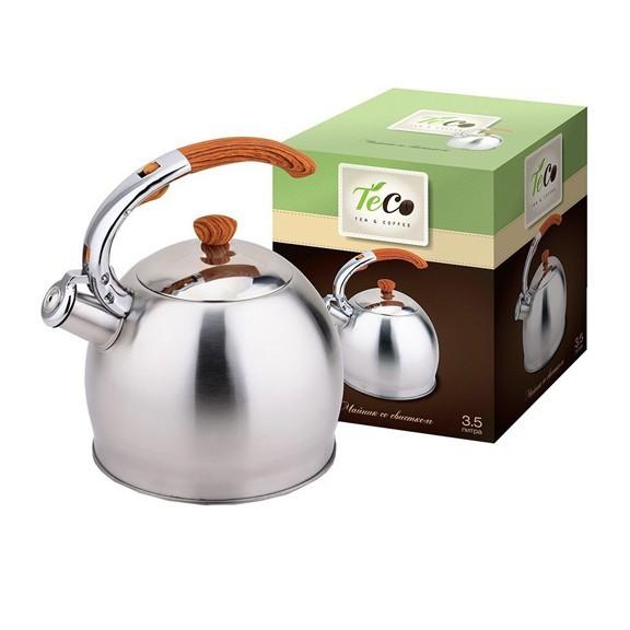 Чайник TECO TC-110Чайники металлические<br>Изящная форма чайника и матовая поверхность придают ему эстетичности на столе. Подходит для всех типов бытовых плит, включая индукционные.<br>