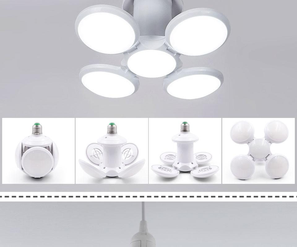 Светодиодная складная лампа в форме шара, 40W