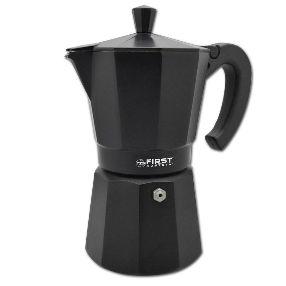 Кофеварка гейзерная FIRST 5471, объем 300 мл/6 чашек, для использования на горячей плите