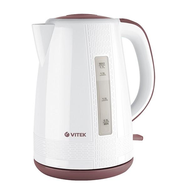 Чайник Vitek (мощность 2150 Вт) VT-7055(W)Электрочайники и термопоты<br>Ни одно современное кухонное пространство не обойдется без стильного, но при этом надежного чайника. И чайник Vitek VT-7055(W) станет прекрасной заменой любой устаревшей модели.<br>