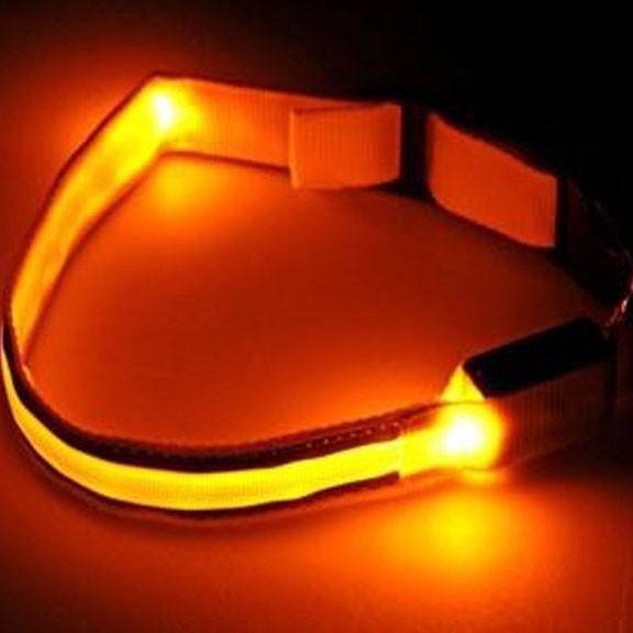 Светящийся ошейник со светоотражателем - 40-45 см, желтый от MELEON