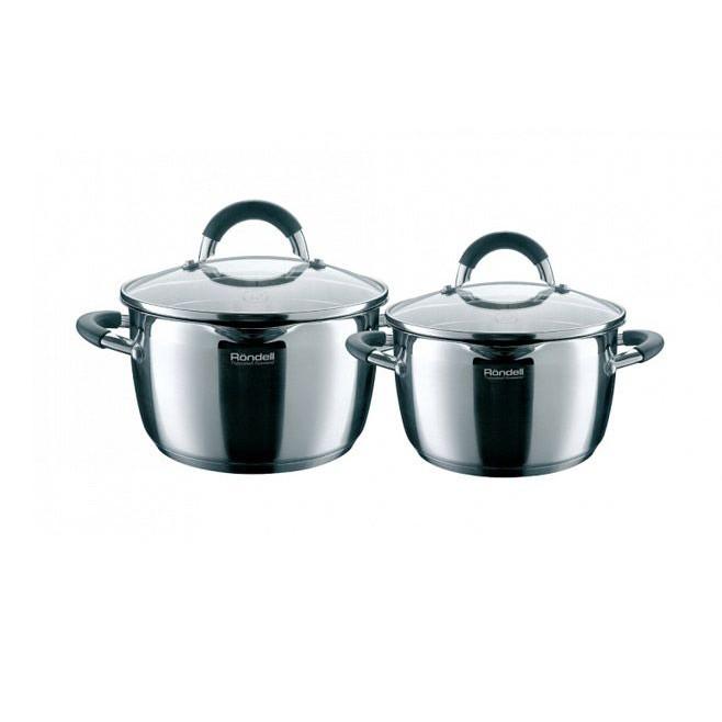 Набор посуды 4 пр. Rondell Flamme 339RDSНаборы посуды<br>Функциональность наборов посуды серии Flamme способна привести в восторг практичных хозяек. С помощью эксклюзивного и элегантного носика, который присутствует на каждом предмете наборов, можно аккуратно и безопасно сливать воду, не открывая крышки и не боясь обжечься горячим паром. Очень удобны крышки наборов тем, что имеют 2 специальных отверстия, выполняющих функцию дуршлага – хозяйкам теперь нет необходимости приобретать и использовать его отдельно.<br>