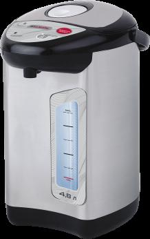 Термопот WILLMARK WAP-502IS (4.8л, 2 сп. нал.воды,повт.кипяч.,металлик,чер. пластик, 900W, 2 г. гар.