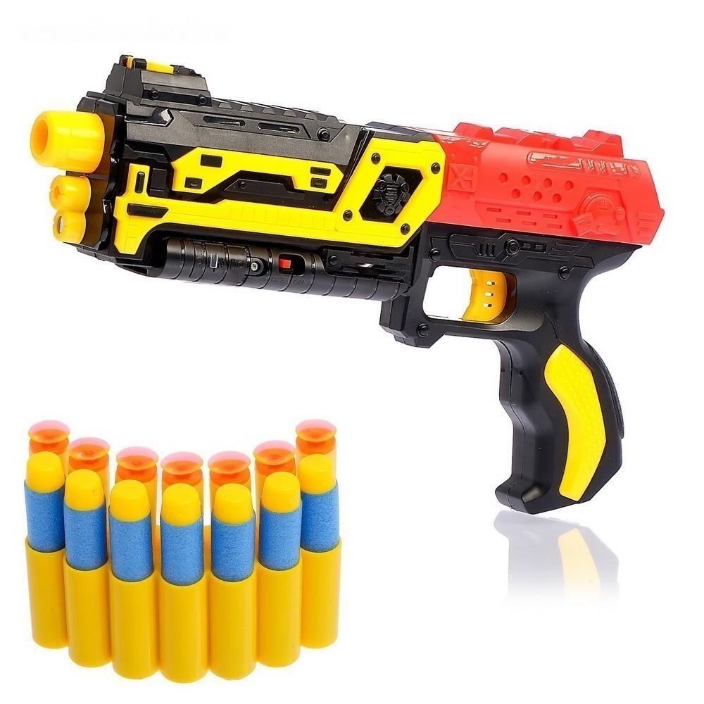 Нерф бластер с мягкими пулями присосками, Игрушки для мальчиков  - купить со скидкой