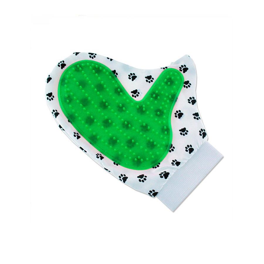 Двусторонняя рукавица для вычёсывания шерсти животных Pet Toy, зелёный