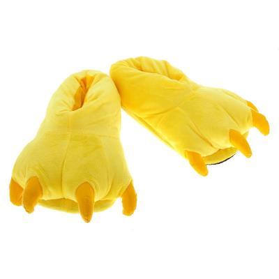 Тапочки кигуруми (тапки-лапы) в ассортименте, взрослые, 34-39 (26 см), Желтый
