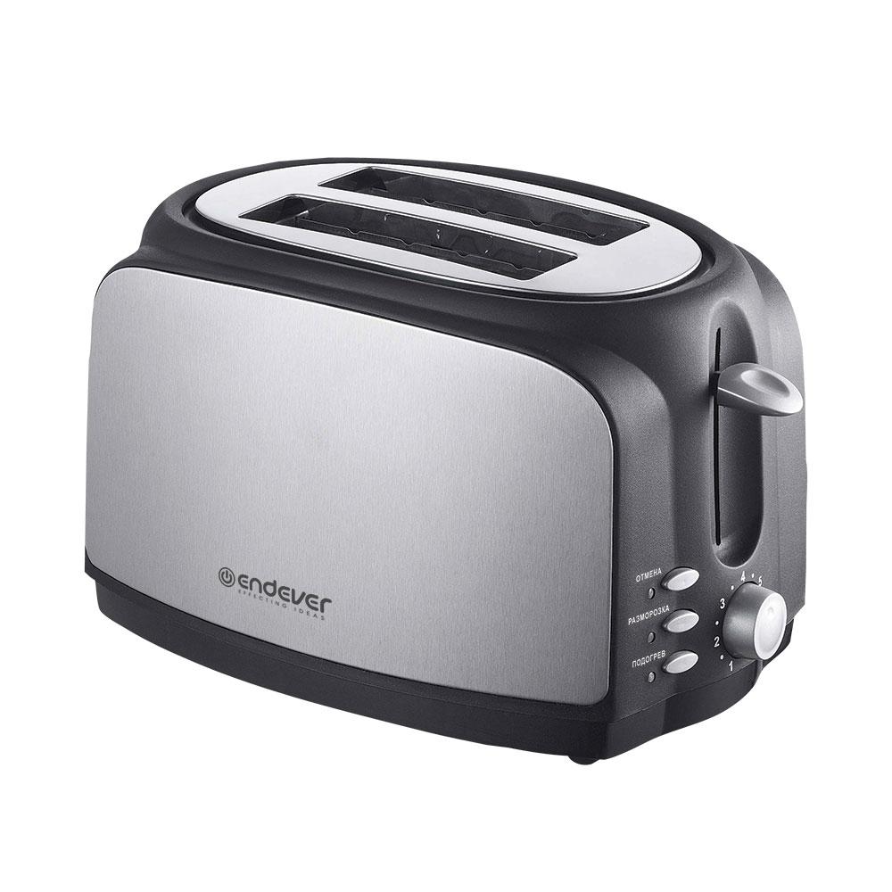 Тостер электрический Endever Skyline 121-STТостеры и сэндвичницы<br>С помощью тостера Endever Skyline ST-121 Вы сможете каждое утро наслаждаться быстро приготовленными сандвичами. Благодаря функции автоцентрирования тосты не подгорят и равномерно прожарятся со всех сторон.<br>