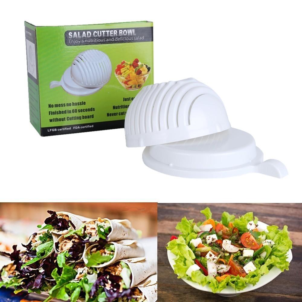 Овощерезка Salad Cutter BallОвощерезки и измельчители<br>Овощерезка Salad Cutter Ball поможет нарезать салаты проще и быстрее! Вам больше не понадобится разделочная доска, посуда для мытья овощей и даже салатница вам больше не пригодятся.<br>