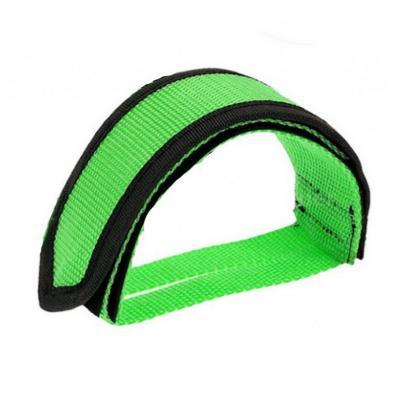 Ремешки (туклипсы) для велосипедных педалей, 1 шт, зелёный