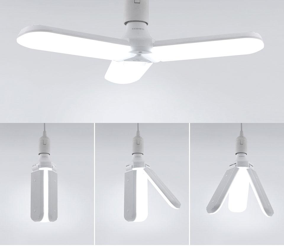 Светодиодная складная лампа, три лопасти, 45W