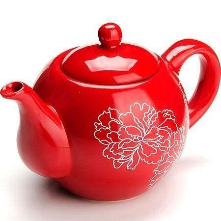 Завар/чайник с/кр 950мл Красный Узор  LORAINE LR-25839Чайники заварочные и френч-прессы<br>Заварочный чайник с крышкой поможет Вам в приготовлении вкусного и ароматного чая, а также станет украшением Вашей кухни. Чайник изготовлен из качественной доломитовой БИО и ЭКО керамики красного цвета с белыми цветами.<br>