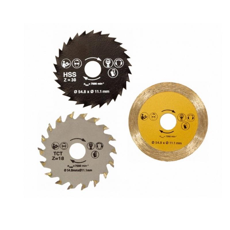Комплект дисков для универсальной пилы Rotorazer Saw (Роторайзер Соу)Остальные инструменты<br>Решились сделать ремонт дома или на даче? Если вы уже являетесь обладателем универсальной пилы Роторайзер, то упростить и ускорить выполнение многих задач сможет комплект дисков для универсальной плиты Rotorazer Saw (Роторайзер Соу)!