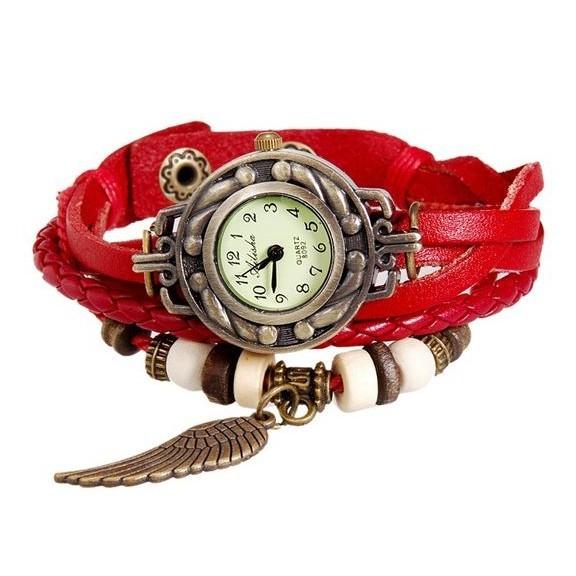 WOMAGE 630 модные женские часы браслет, Красный