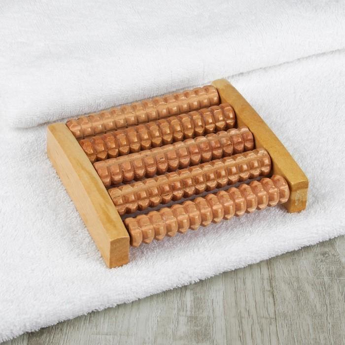Массажёр — Ножное счастье, 5 рядов, деревянный