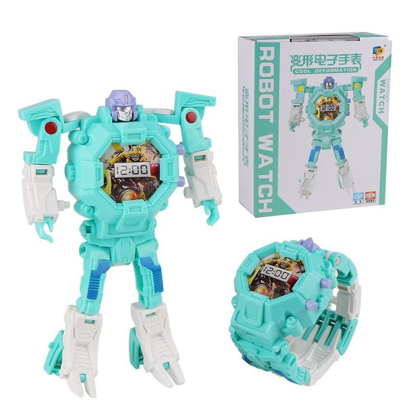 Часы-игрушка трансформер Robot Watch, цвет в ассортименте, Мятный