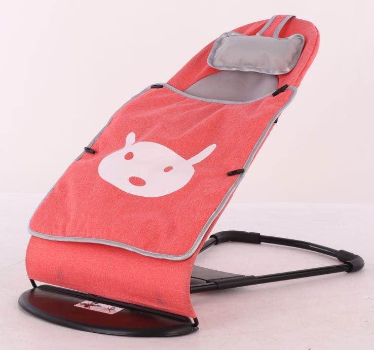 Купить Кресло-шезлонг для новорожденных - Зайка, красный, Товары для новорожденных