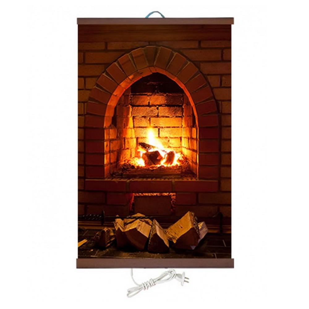 Гибкий настенный обогреватель Доброе тепло — Камин