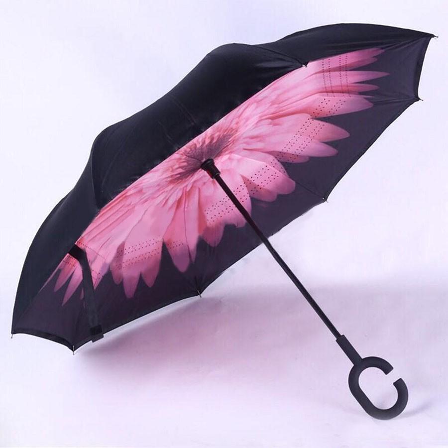 Обратный ветрозащитный зонт Up-brella цветок, розовыйЗонты<br>Живете в регионе, где часто пасмурно? Если вам наскучили неудобные зонты, то вы просто не слышали ничего о конструкции, которая вот уже несколько лет уверенно завоевывает сердца людей в других странах. Это – обратный ветрозащитный зонт Up-brella цветок, который только сейчас вы можете купить по суперцене в интернет магазине Мелеон.<br>
