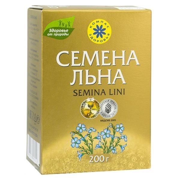 Семена Льна - Компас Здоровья, 200г фото