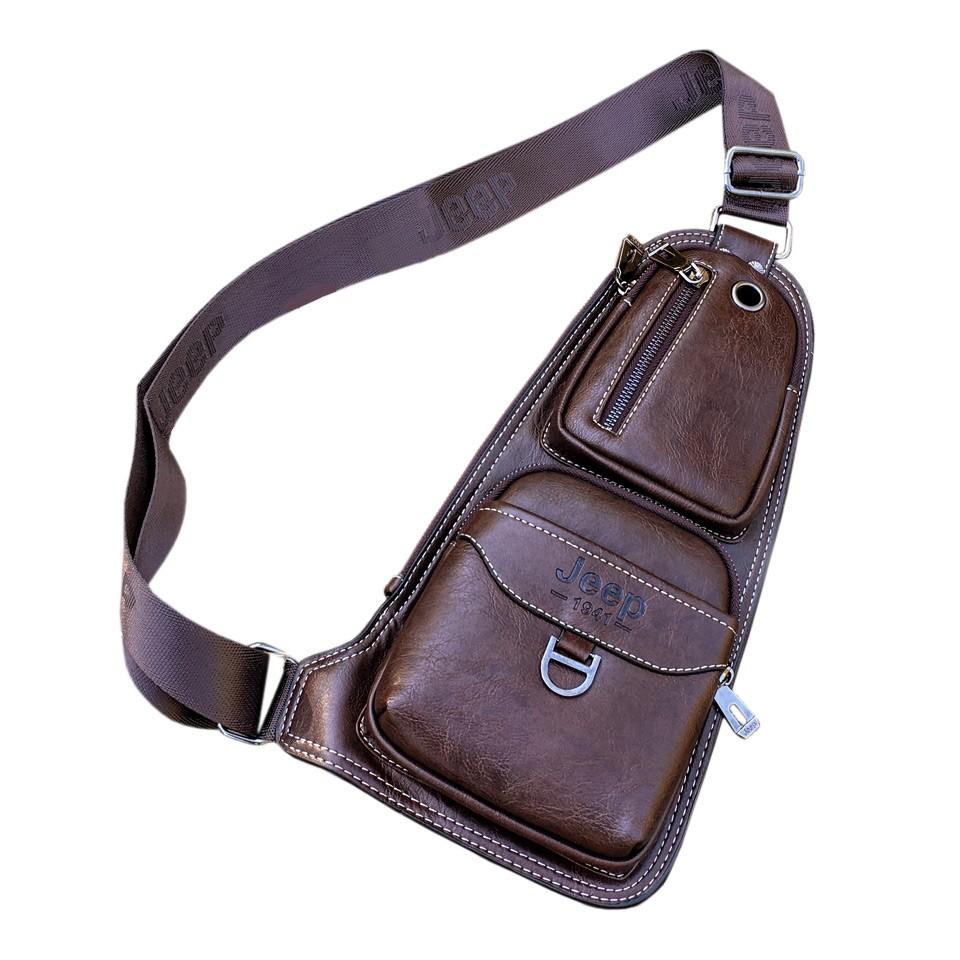 Кожаная сумка JeepСумки и рюкзаки<br>Если вам надоело складывать все вещи и гаджеты по карманам, то вам просто необходима кожаная сумка Jeep. Это – аксессуар, который подчеркнет статус мужчины в обществе и выгодно дополнит любой образ! Цена в интернет магазине Мелеон приятно вас удивит!<br>