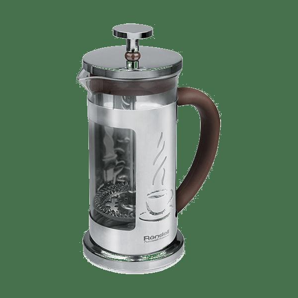 Френч-пресс Mocco&amp;Latte Rondell 1000 млЧайники заварочные и френч-прессы<br>Порадует вас стильным трафаретным изображением чайно-кофейных напитков, а также любимыми горячими напитками дома или на работе!<br>
