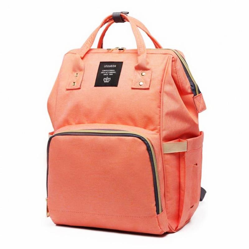 Сумка-рюкзак для мамы Baby Mo с USB, цвет в ассортименте, оранжевый