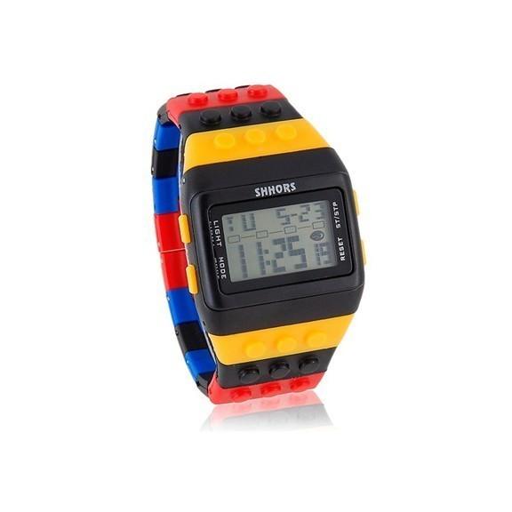 Стильные полосатые LED часы